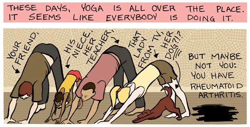 Yoga and RA comic